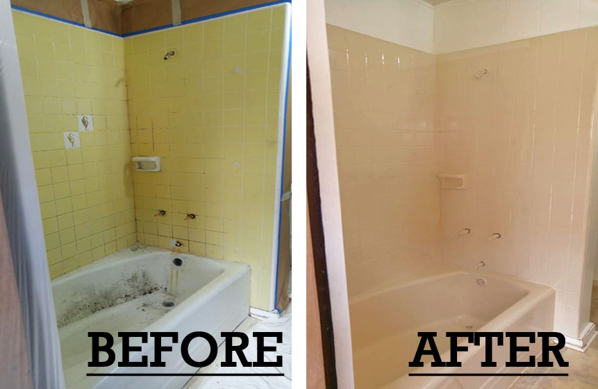 Before and After Bathtub and Tile Refinishing in Honolulu (1)