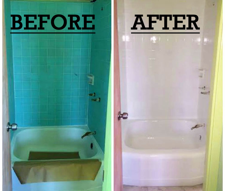 Before and After Shower Refinishing in Kapolei Oahu
